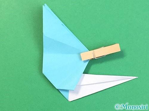 折り紙で立体的なネズミの折り方手順56