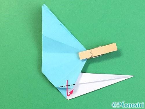折り紙で立体的なネズミの折り方手順57