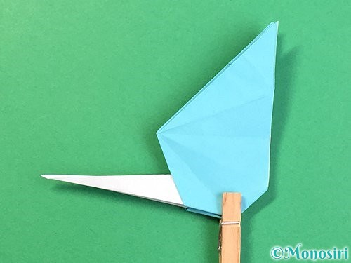 折り紙で立体的なネズミの折り方手順60