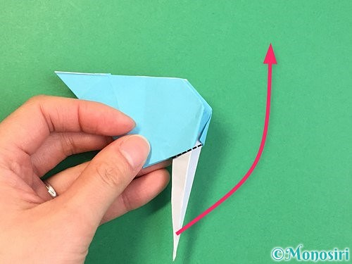折り紙で立体的なネズミの折り方手順61