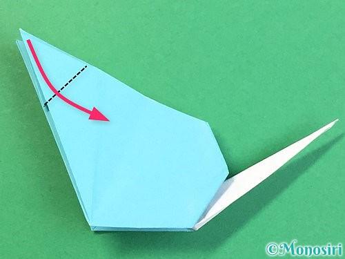 折り紙で立体的なネズミの折り方手順67