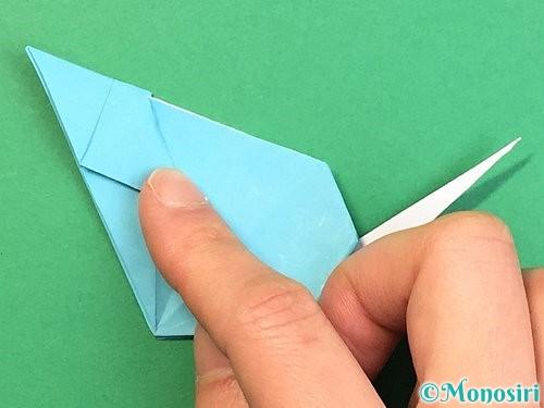 折り紙で立体的なネズミの折り方手順68
