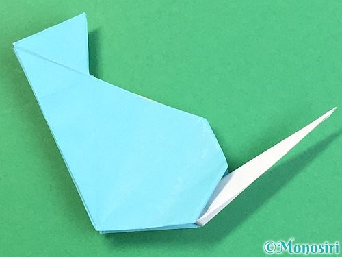 折り紙で立体的なネズミの折り方手順72