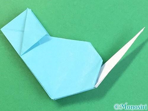折り紙で立体的なネズミの折り方手順76
