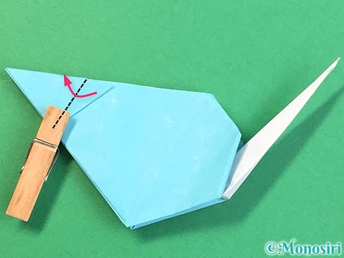 折り紙で立体的なネズミの折り方手順81