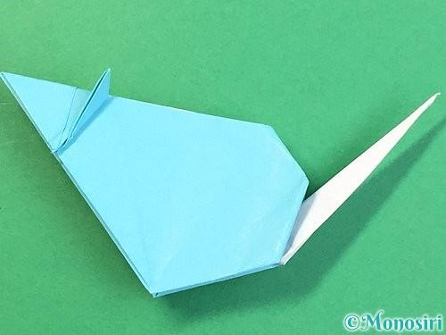 折り紙で立体的なネズミの折り方手順82