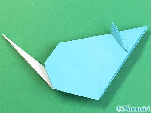 折り紙で立体的なネズミの折り方手順83