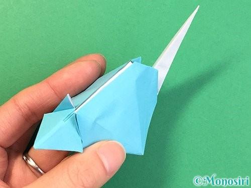 折り紙で立体的なネズミの折り方手順85