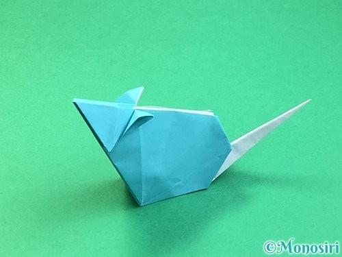 折り紙で立体的なネズミの折り方手順88