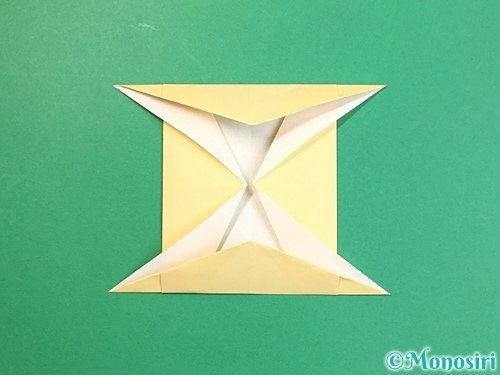 折り紙で立体的な牛の折り方手順10