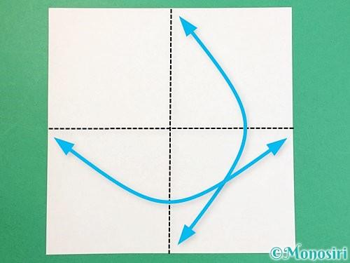 折り紙で立体的な牛の折り方手順17