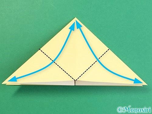 折り紙で立体的な牛の折り方手順29