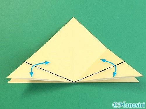 折り紙で立体的な牛の折り方手順31