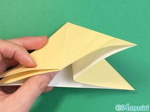 折り紙で立体的な牛の折り方手順33