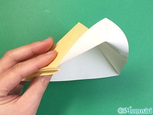 折り紙で立体的な牛の折り方手順35