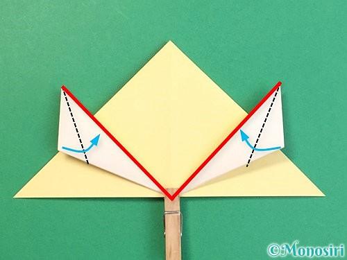 折り紙で立体的な牛の折り方手順39