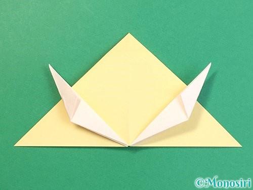 折り紙で立体的な牛の折り方手順40