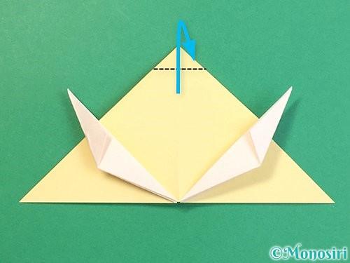 折り紙で立体的な牛の折り方手順41