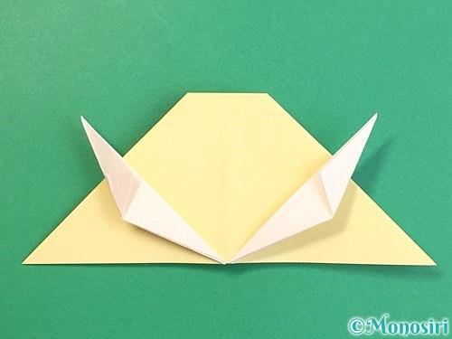 折り紙で立体的な牛の折り方手順42