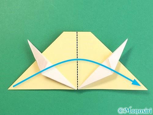 折り紙で立体的な牛の折り方手順43