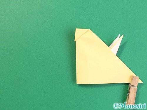 折り紙で立体的な牛の折り方手順44