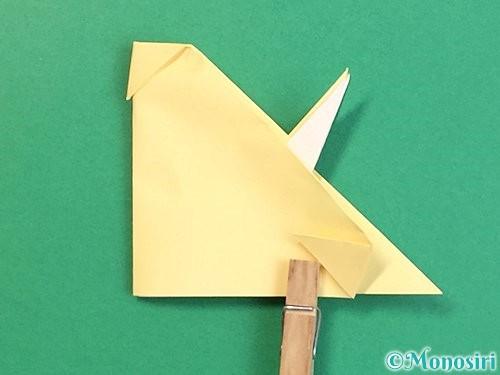 折り紙で立体的な牛の折り方手順46