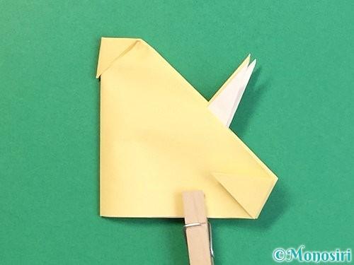 折り紙で立体的な牛の折り方手順48