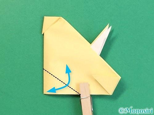 折り紙で立体的な牛の折り方手順49