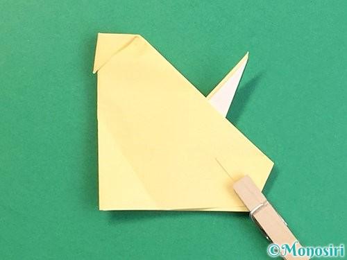 折り紙で立体的な牛の折り方手順50