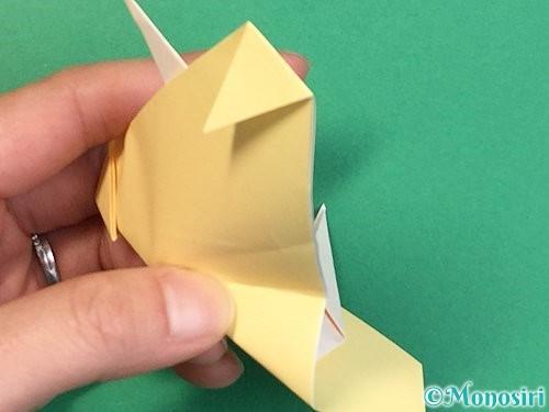 折り紙で立体的な牛の折り方手順52