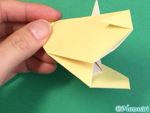 折り紙で立体的な牛の折り方手順53