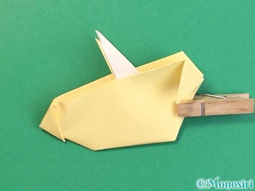 折り紙で立体的な牛の折り方手順55