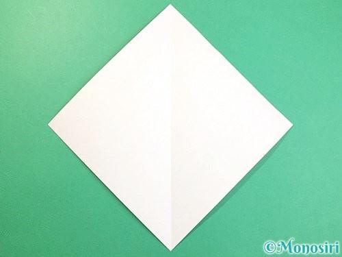 折り紙で虎の折り方手順2