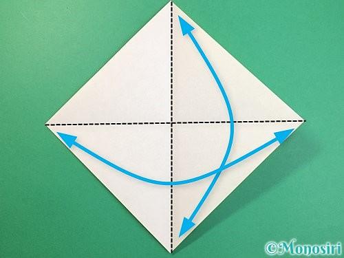 折り紙で立体的な虎の折り方手順1