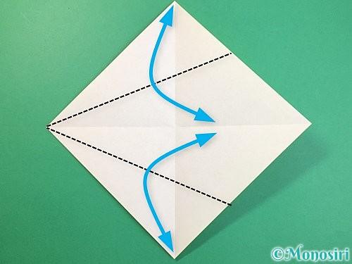 折り紙で立体的な虎の折り方手順3