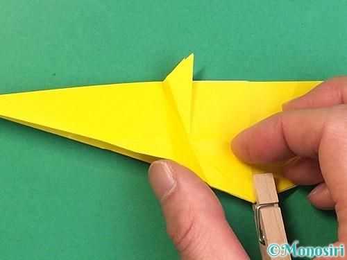 折り紙で立体的な虎の折り方手順34