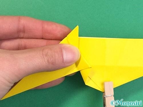 折り紙で立体的な虎の折り方手順35