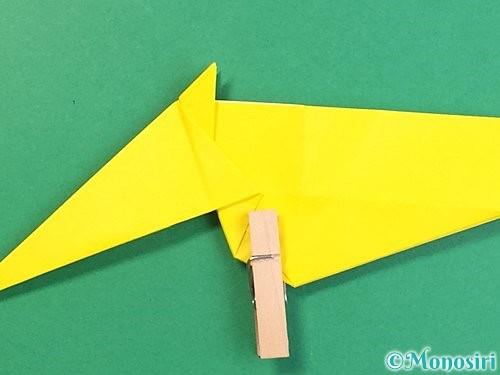 折り紙で立体的な虎の折り方手順36