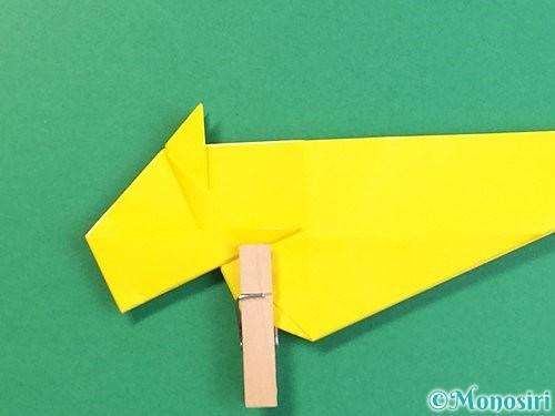 折り紙で立体的な虎の折り方手順38
