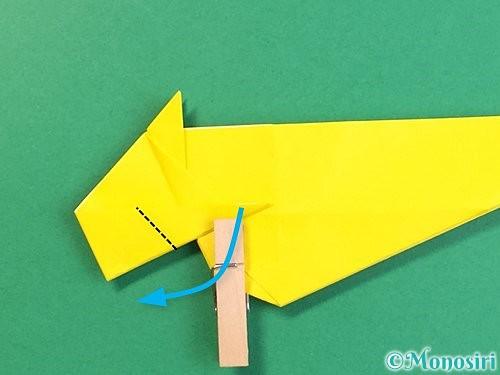 折り紙で立体的な虎の折り方手順39