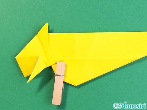 折り紙で立体的な虎の折り方手順40