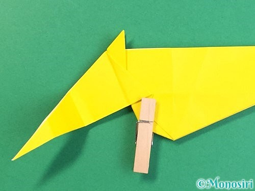 折り紙で立体的な虎の折り方手順41