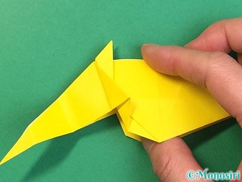 折り紙で立体的な虎の折り方手順42