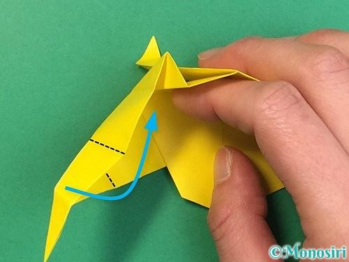 折り紙で立体的な虎の折り方手順43