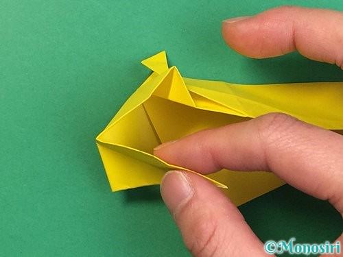 折り紙で立体的な虎の折り方手順44