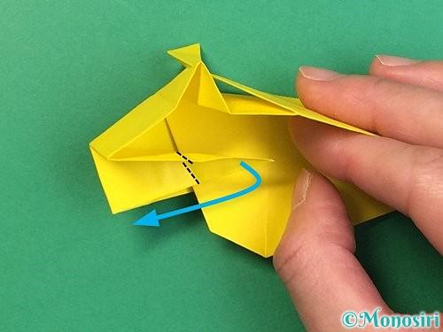折り紙で立体的な虎の折り方手順46