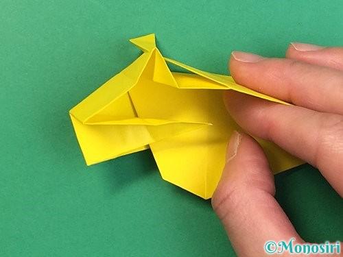 折り紙で立体的な虎の折り方手順45