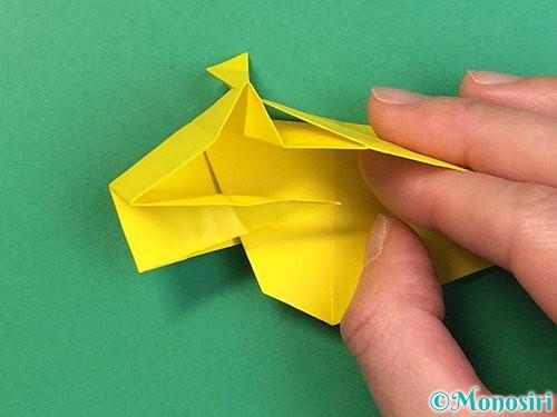 折り紙で立体的な虎の折り方手順47