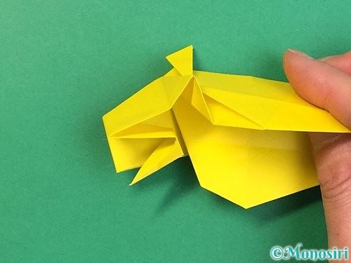 折り紙で立体的な虎の折り方手順48