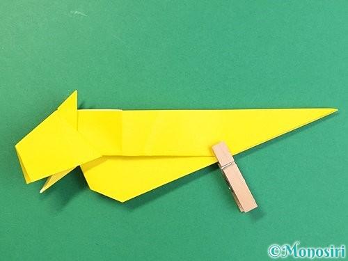 折り紙で立体的な虎の折り方手順51